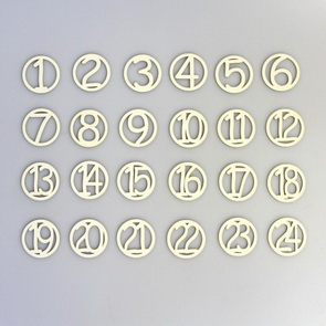 Chipboards Nemravka / Advent Numbers in Rings