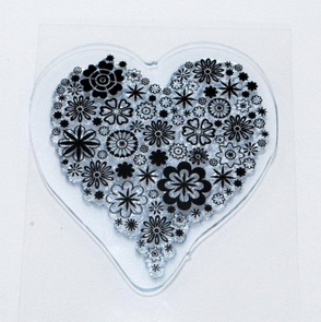 Clear Stamps / Heart Full of Flowers