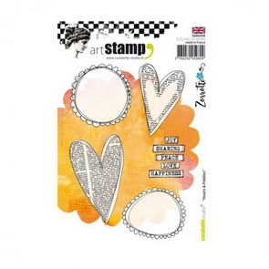 Cling Stamps by Carabelle Studio / Zorrotte / Hearts & Pebbles