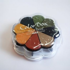 Chalk Ink Pads Color Box Palette / Autumn Pastels / 2. Quality