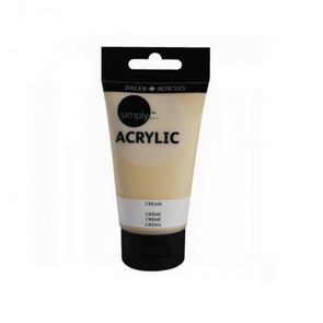 Acrylic Paint by Daler Rowney Simply / 75 ml / Cream