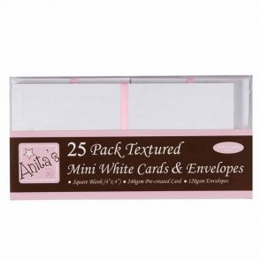 Cards and Envelopes / 25 pc / White