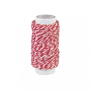 Decorative String / Red and White