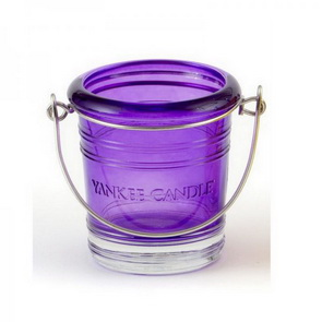 Svícen Yankee Candle / Glass Bucket / fialový