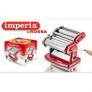 Imperia Professional Clay Machine with Attachment Cutters / Red