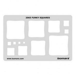 Shape Template / Funky Squares / 2065