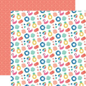 Scrapbooking Paper / Echo Park / Dive into Summer / Fabulous Floaties