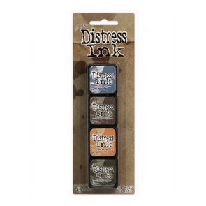Mini Distress Ink Pads / Set 9