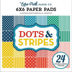 Sada scrapbookových papírů Echo Park / Summer 2018 Dots & Stripes