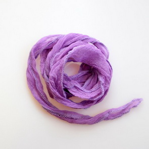 Silk Crinkle Chiffon String / Thick / Violet 1