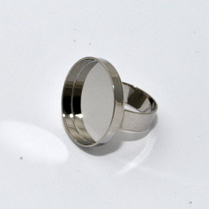 Round Bezel for Ring / Silver