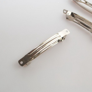 French Clip / 5 pieces / 78 mm / Platinum