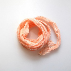 Silk Crinkle Chiffon String / Thick / Peach