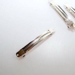 French Clip / 5 pieces / 98 mm / Platinum