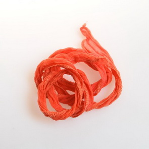 Silk Crinkle Chiffon String / Thick / Light Orange