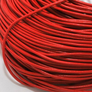 Leather Cord / 2 mm / Red