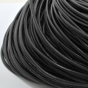 Leather Cord / 3 mm / Black