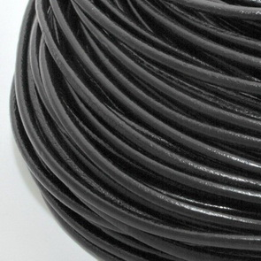 Leather Cord / 4 mm / Black