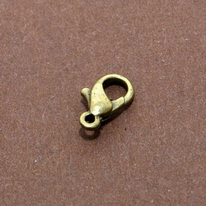 Karabinka / 20 ks / 10 mm / antik bronz
