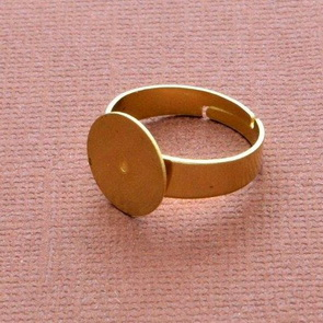 Ring Base / 5 pieces / 18 mm / Gold