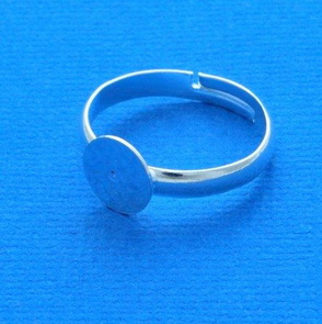 Ring Base / 5 pieces / 17 mm / Silver