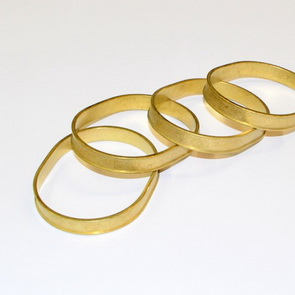 Channel Bracelet Blank / Oval / Brass