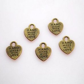 Pendant Set / Heart / Antique Bronze