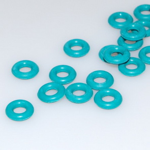 O Rings / 7 mm / 50 pieces / Turquoise