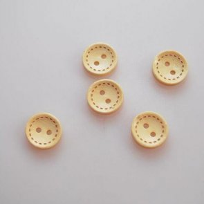 Button Wooden / 5 pc / 13 mm