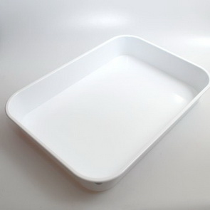 Art Tray for Ebru Art / White Plastic