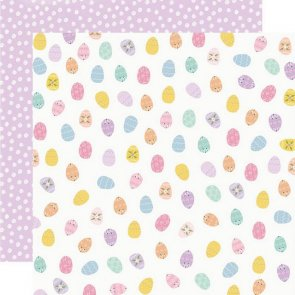 Scrapbooking Paper / Simple Stories / Bunnies and Blooms / Egg Hunt