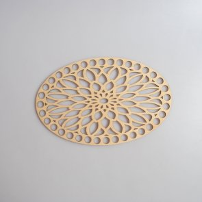 Crochet Basket Lid Base / Oval / 20 cm / Mandala I.