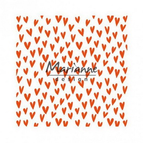 Embossing Folder by Marrianne Design / Trendy Hearts