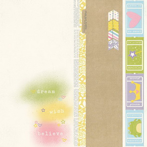 Scrapbooking paper Simple Stories / Border Strip / Enchanted