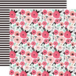 Scrapbooking Paper by Echo Park / Fashionista / Fashionista Floral