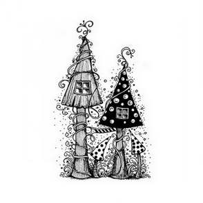 Silicone stamps by Lavinia / Fairy House