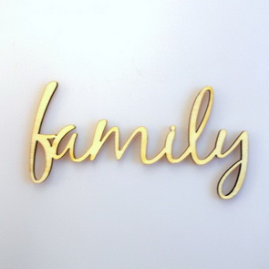 Decorative Wooden Writing Signs / Family