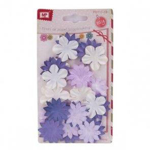 Decorative Paper Flowers / Violet Mix