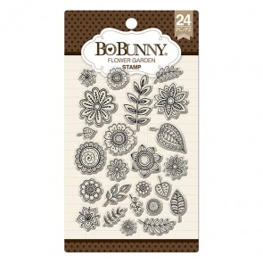 Silicone Stamps Set by BoBunny / Flower Garden