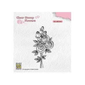 Silicone Stamp / Nellie´s / Flowers Bouquet / Roses