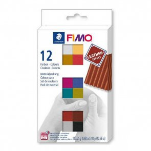 FIMO Effect Leather / Set of 12 Colours