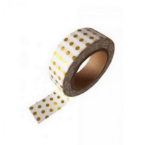 Washi Tape / Metallic Golden Dots