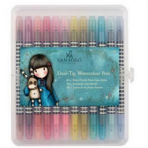 Watercolor Markers by Gorjuss Santoro / 12 pc / Brights