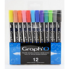 Double-Sided Markers Graph´O / 12 pc