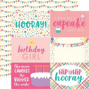 Scrapbooking Paper by Echo Park / 4 x 6 / Happy Birthday Girl