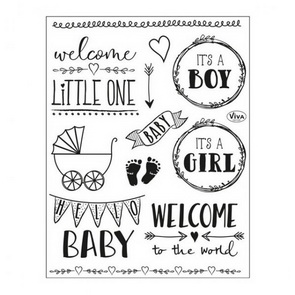 Silicone Stamps by Viva / Hello Baby