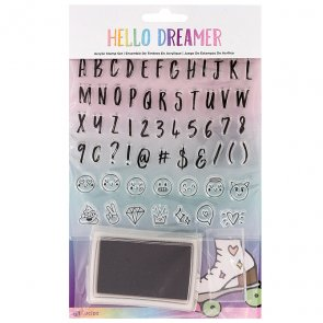 Alphabet Silicone Stamps Set by American Crafts / Hello Dreamer