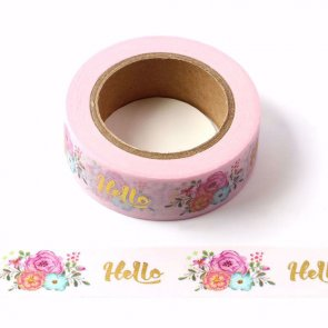 Washi Tape / Pink Hello