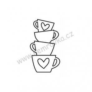 Silicone Stamp by Nemravka / Cups