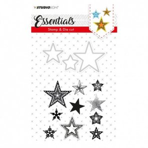 Silicone Stamps and Metal Cutting Die Set by Studio Light / Christmas Stars
